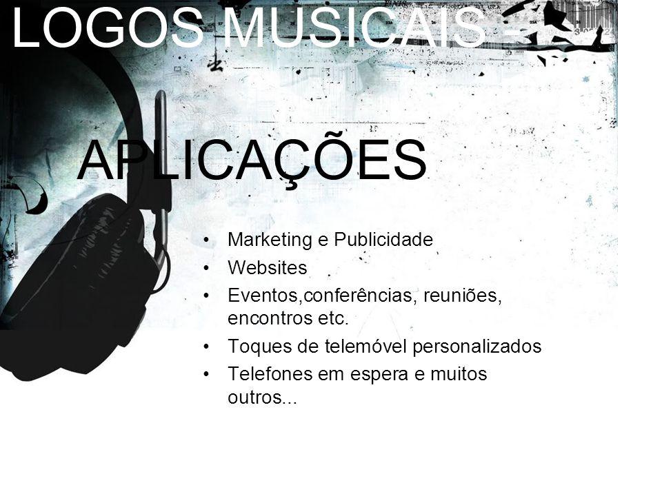 LOGOS MUSICAIS - APLICAÇÕES Marketing e Publicidade Websites