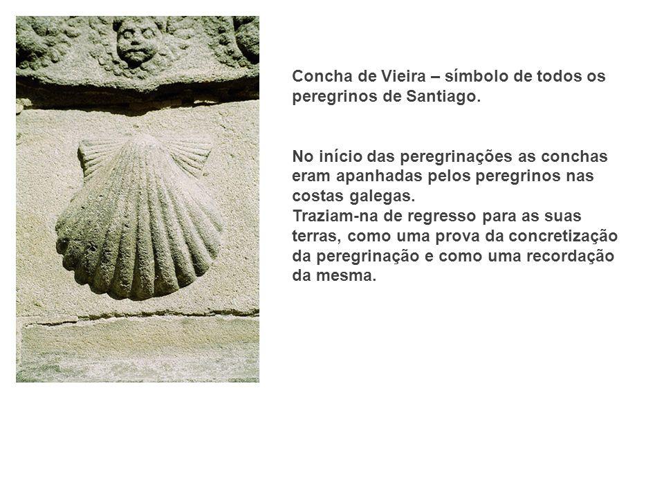 Concha de Vieira – símbolo de todos os peregrinos de Santiago.
