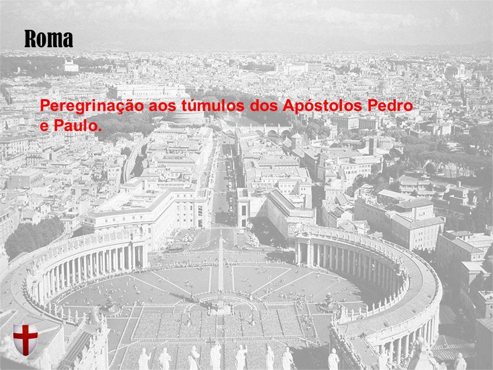 Roma Peregrinação aos túmulos dos Apóstolos Pedro e Paulo.