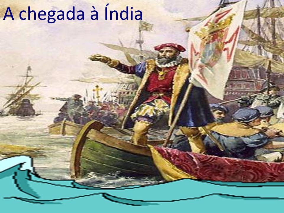 A chegada à Índia