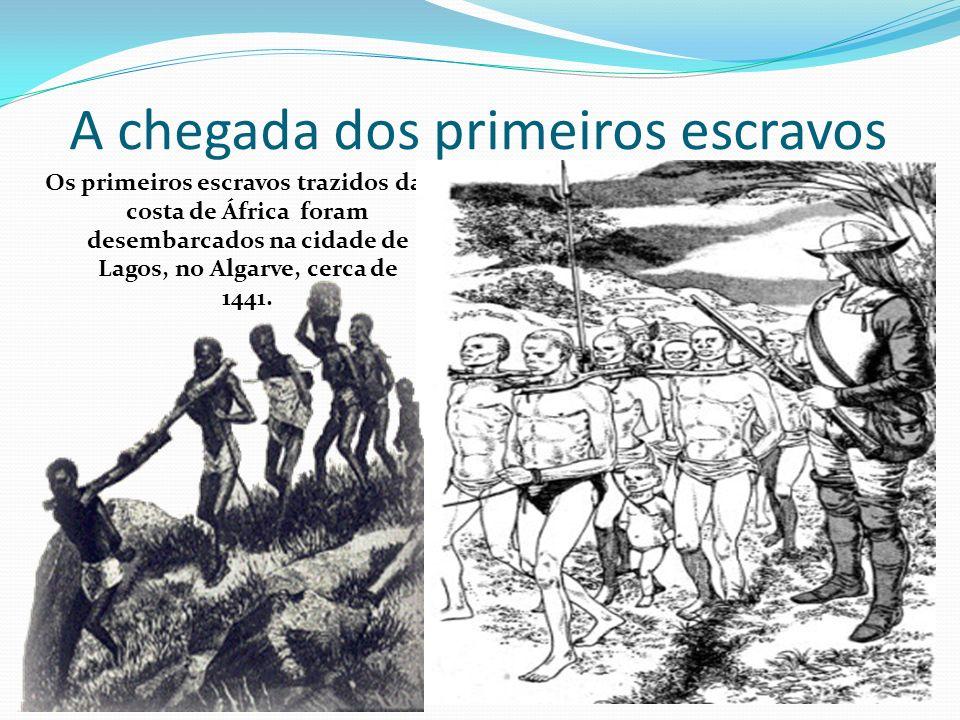 A chegada dos primeiros escravos
