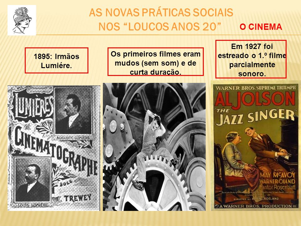 NOS LOUCOS ANOS 20 AS NOVAS PRÁTICAS SOCIAIS O CINEMA