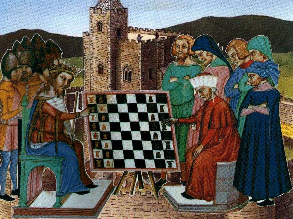 Muitos dos divertimentos dos nobres realizavam-se no interior dos seus castelos. Um deles, herança árabe, era o xadrez.