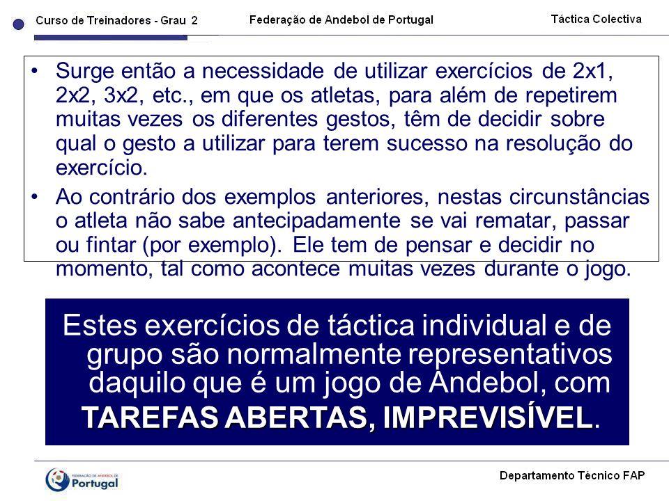 TAREFAS ABERTAS, IMPREVISÍVEL.