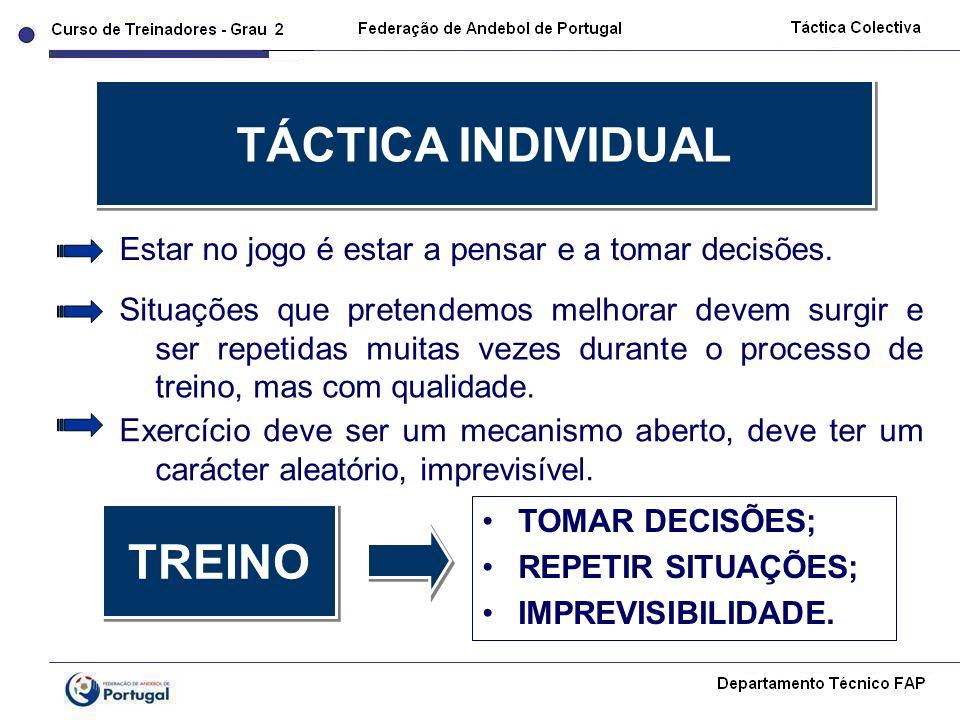 TÁCTICA INDIVIDUAL TREINO