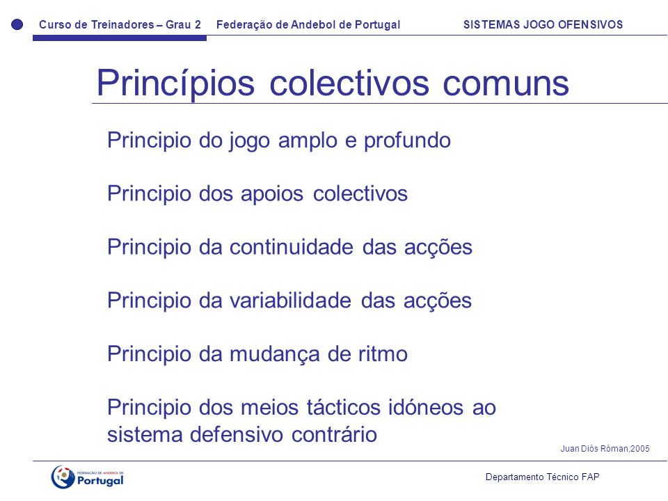 Princípios colectivos comuns