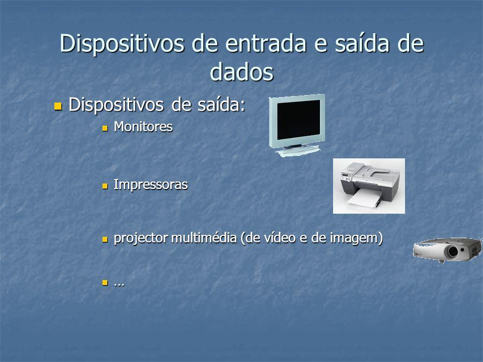 Dispositivos de entrada e saída de dados