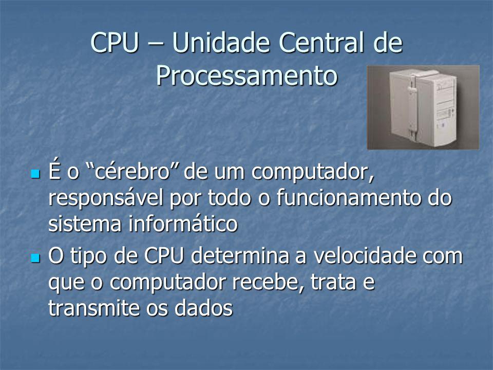 CPU – Unidade Central de Processamento