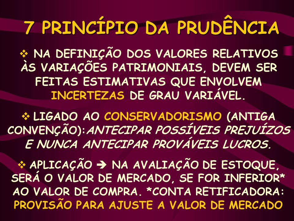 7 PRINCÍPIO DA PRUDÊNCIA