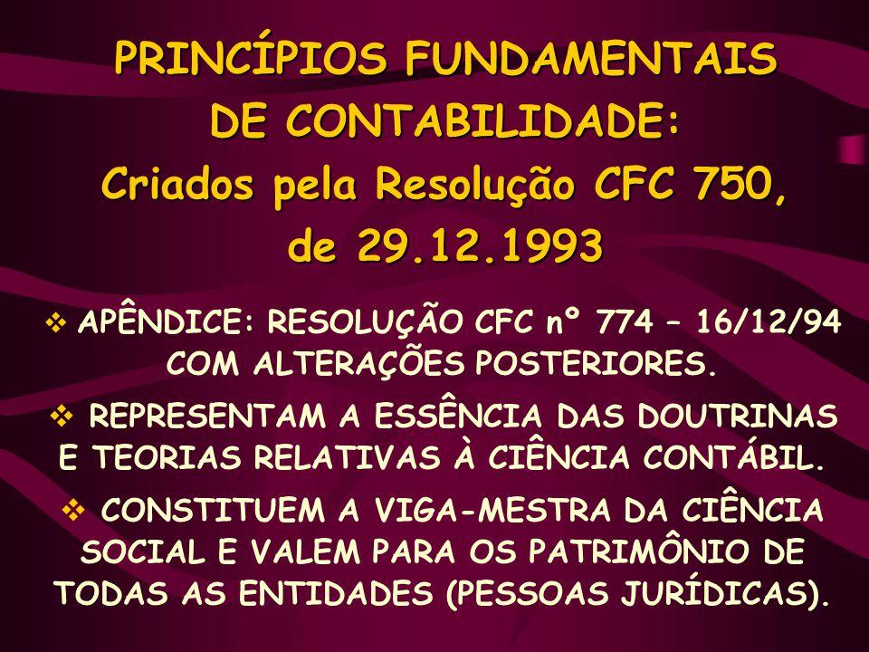 APÊNDICE: RESOLUÇÃO CFC nº 774 – 16/12/94 COM ALTERAÇÕES POSTERIORES.