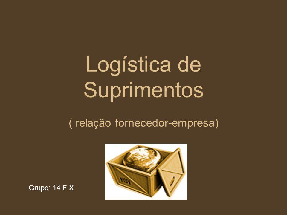 Logística de Suprimentos ( relação fornecedor-empresa)