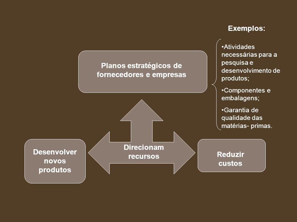 Planos estratégicos de fornecedores e empresas