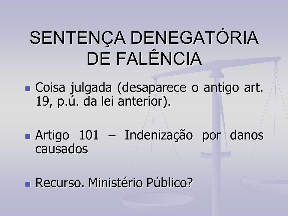 SENTENÇA DENEGATÓRIA DE FALÊNCIA