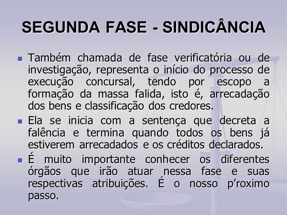SEGUNDA FASE - SINDICÂNCIA