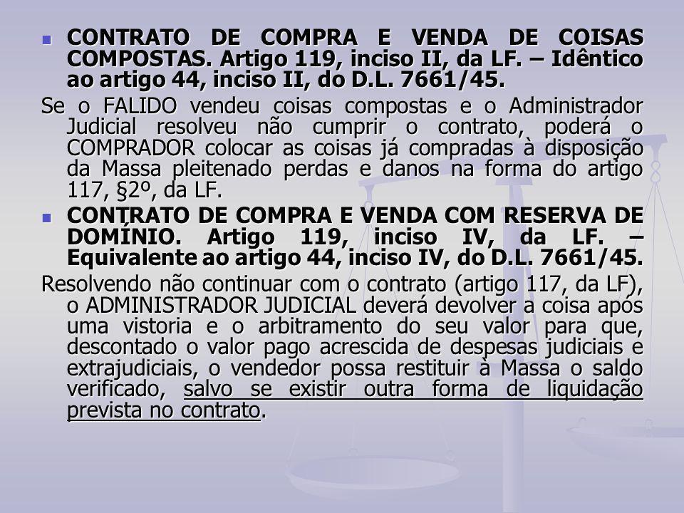 CONTRATO DE COMPRA E VENDA DE COISAS COMPOSTAS