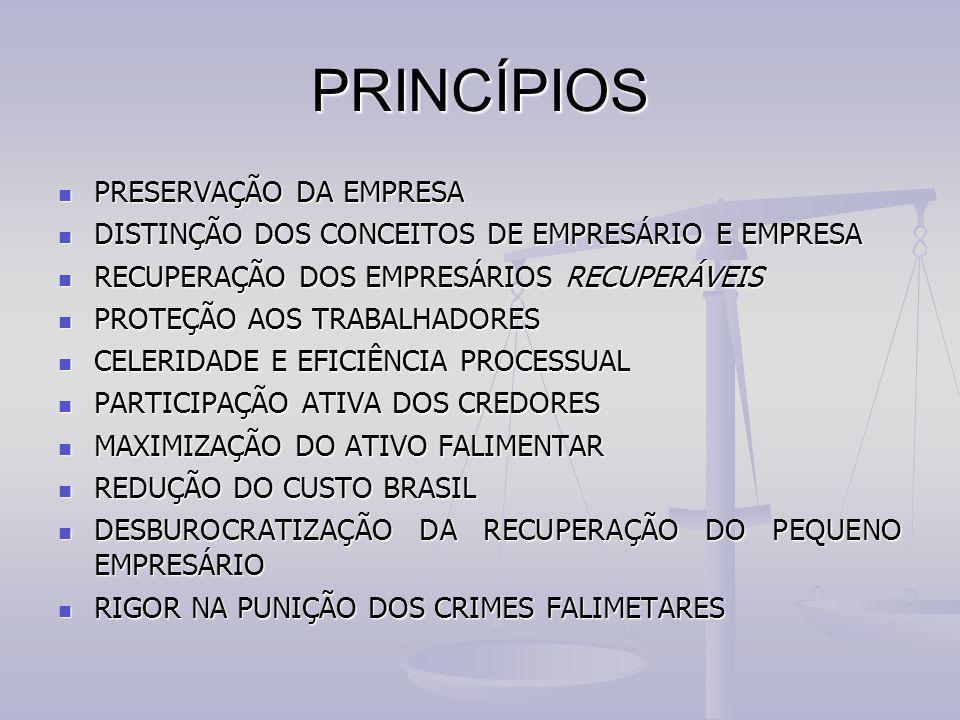 PRINCÍPIOS PRESERVAÇÃO DA EMPRESA