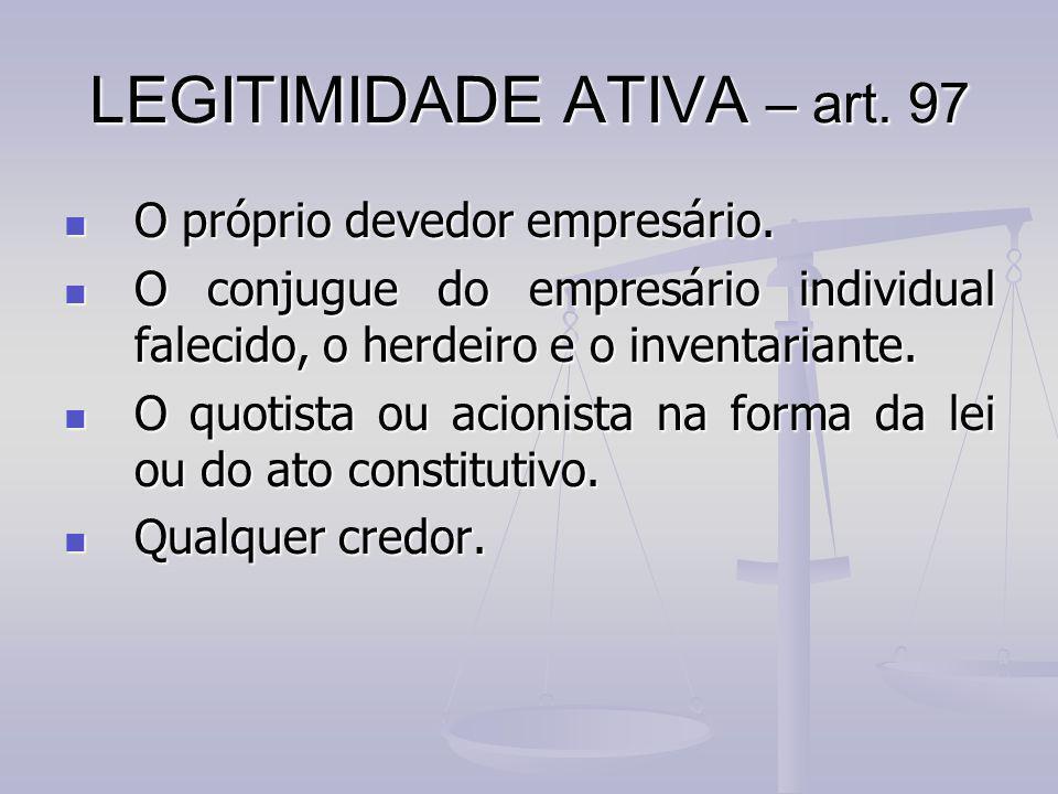 LEGITIMIDADE ATIVA – art. 97