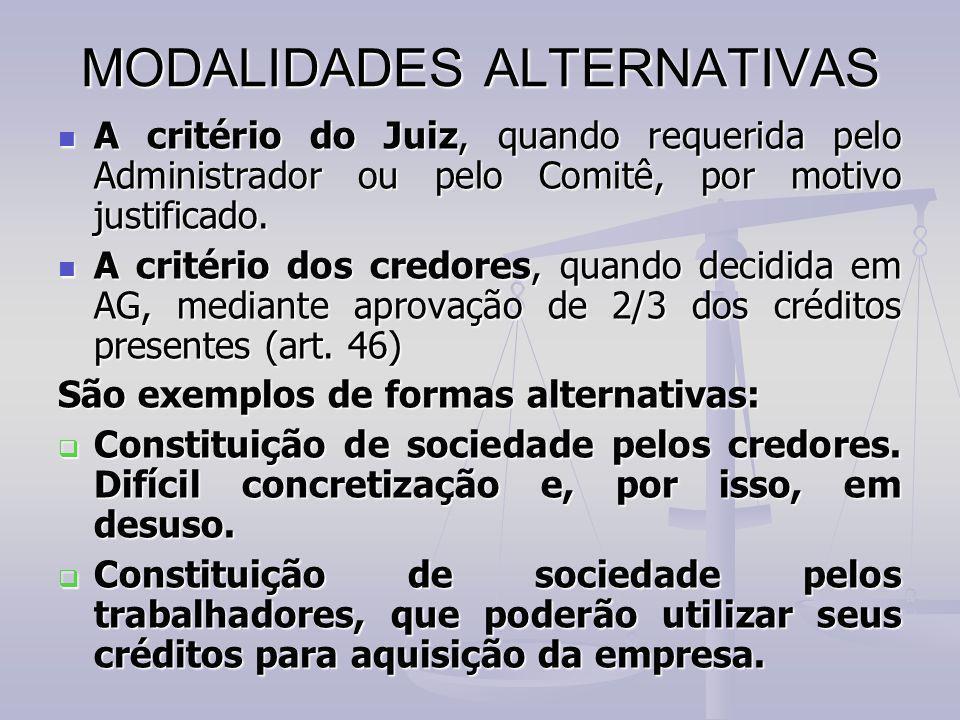 MODALIDADES ALTERNATIVAS
