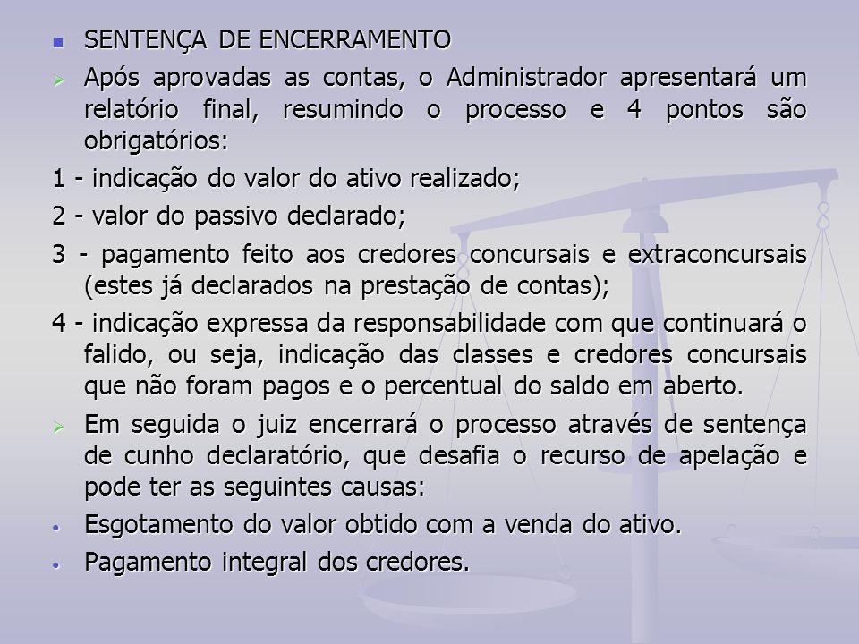 SENTENÇA DE ENCERRAMENTO