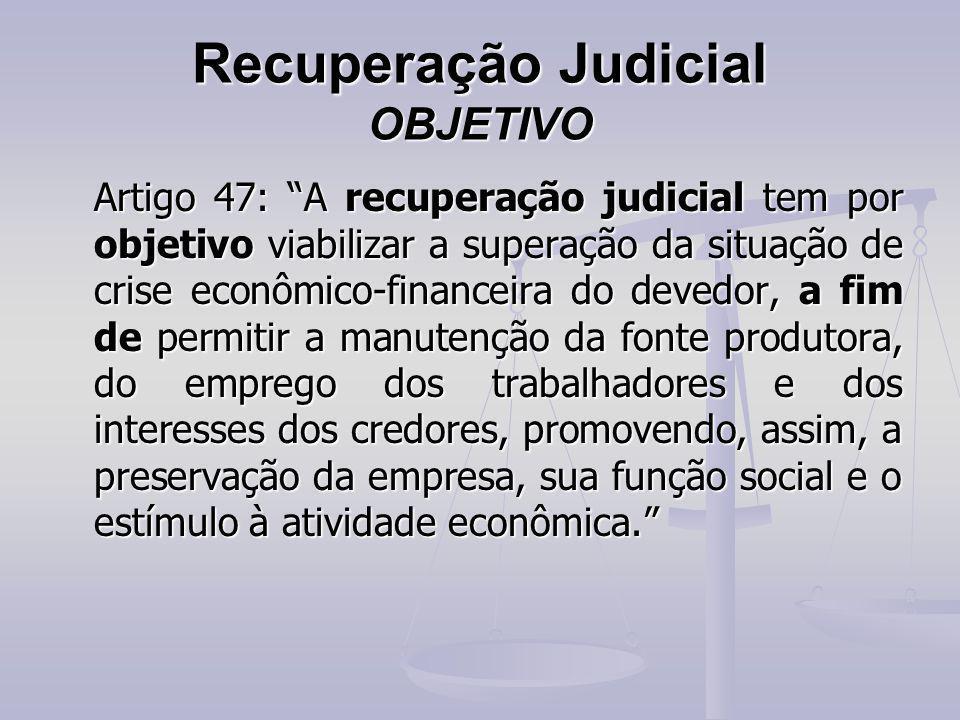 Recuperação Judicial OBJETIVO