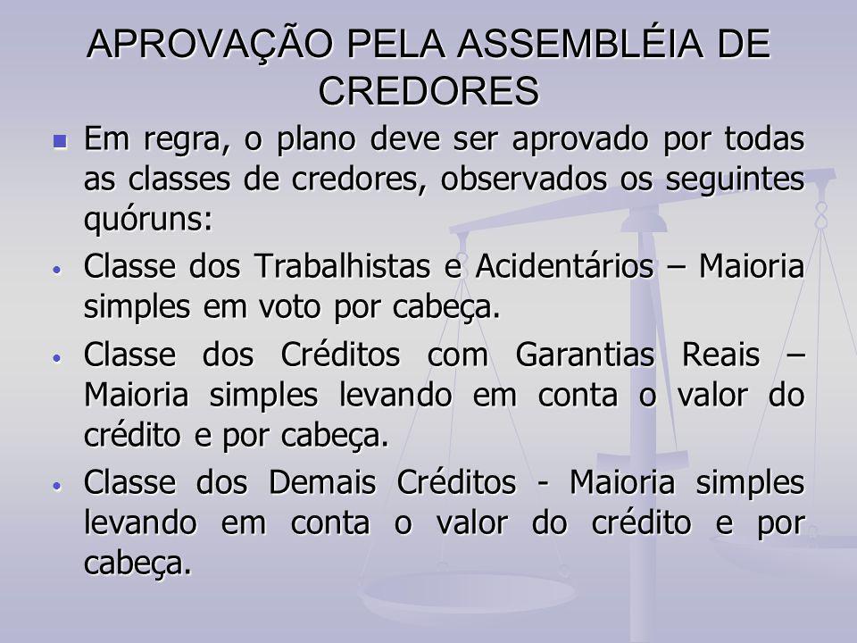 APROVAÇÃO PELA ASSEMBLÉIA DE CREDORES