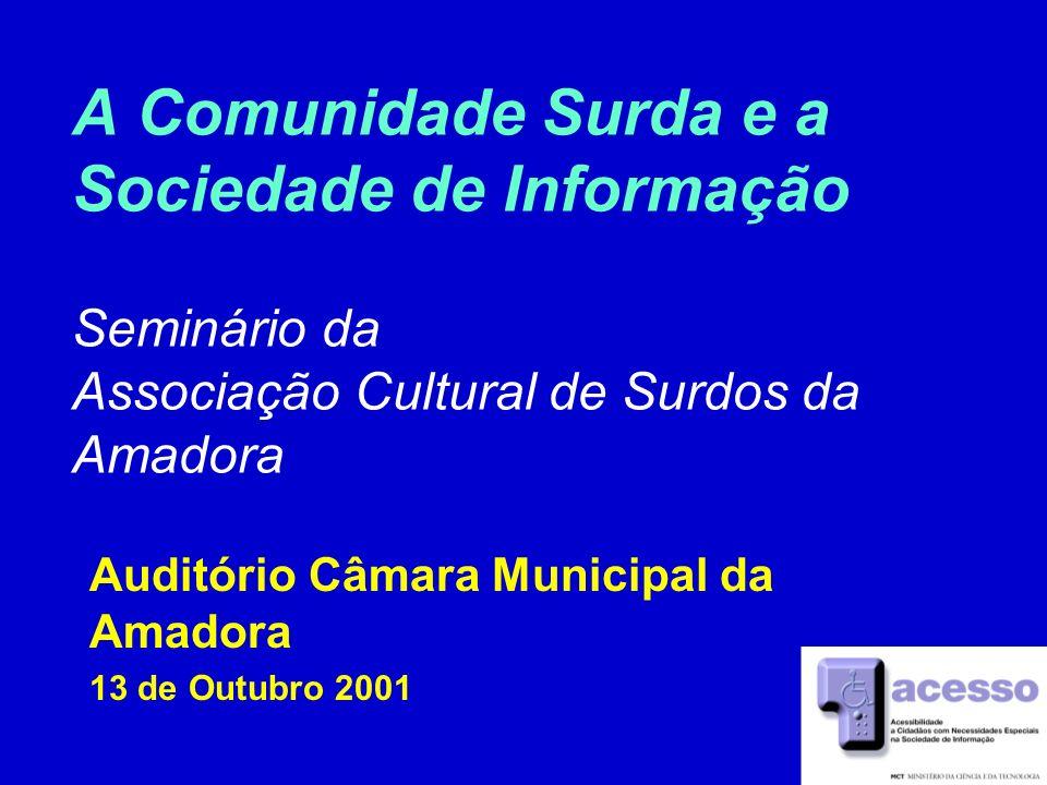 Auditório Câmara Municipal da Amadora 13 de Outubro 2001