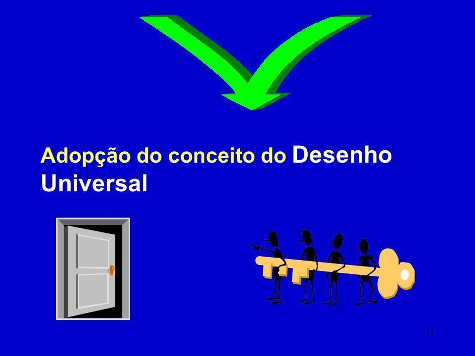 Adopção do conceito do Desenho Universal .