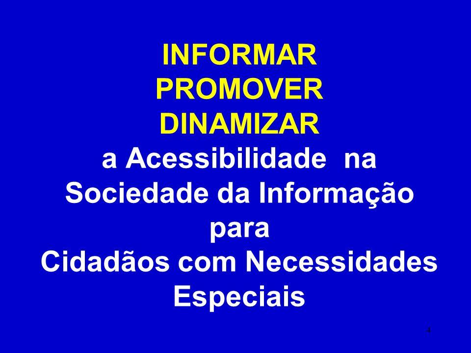 INFORMAR PROMOVER DINAMIZAR a Acessibilidade na Sociedade da Informação para Cidadãos com Necessidades Especiais