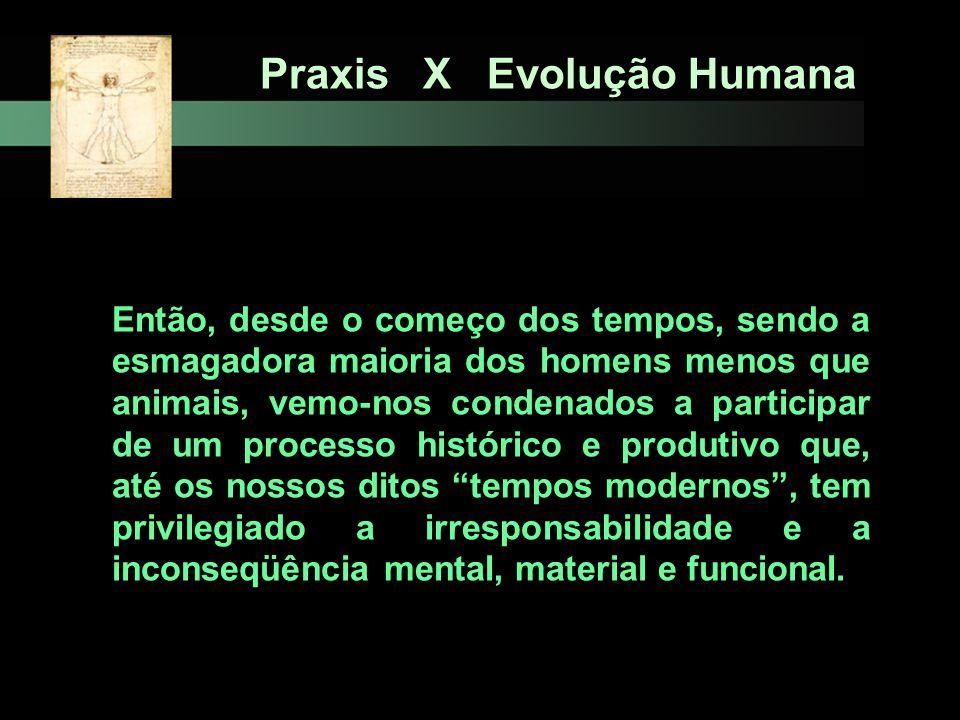 Praxis X Evolução Humana