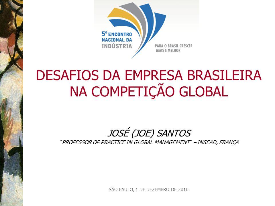 DESAFIOS DA EMPRESA BRASILEIRA NA COMPETIÇÃO GLOBAL