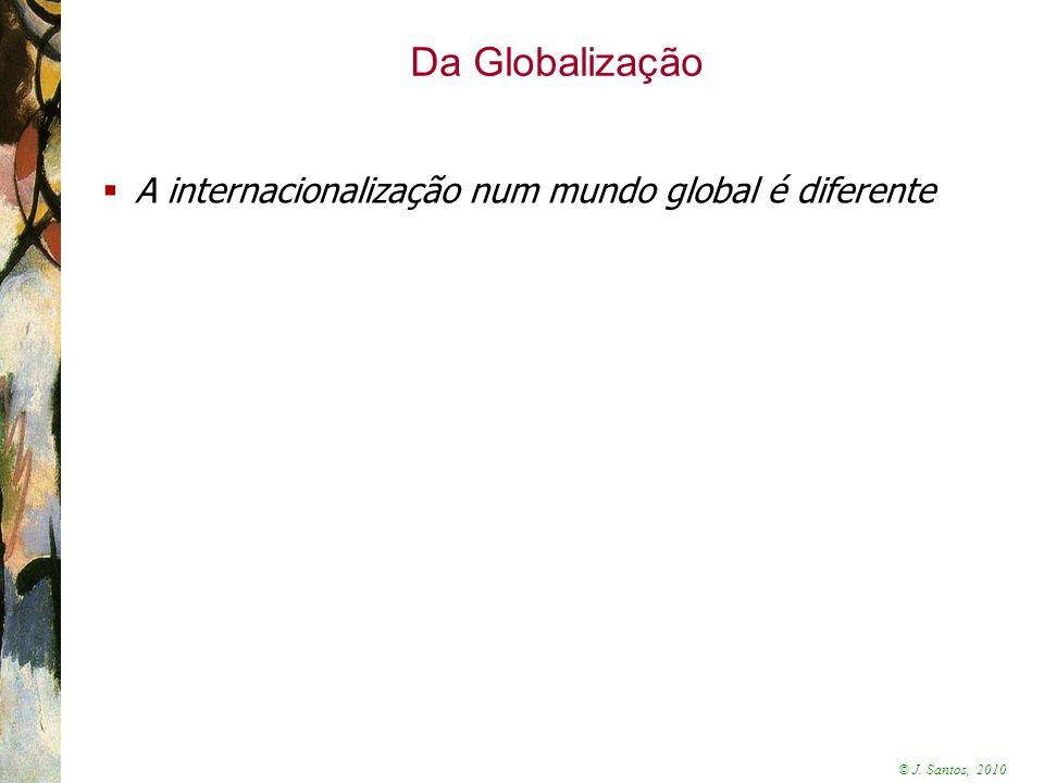 Da Globalização A internacionalização num mundo global é diferente 3