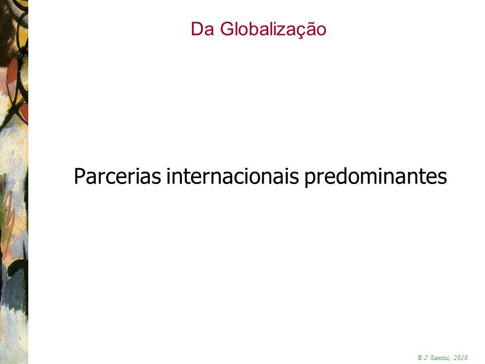 Parcerias internacionais predominantes