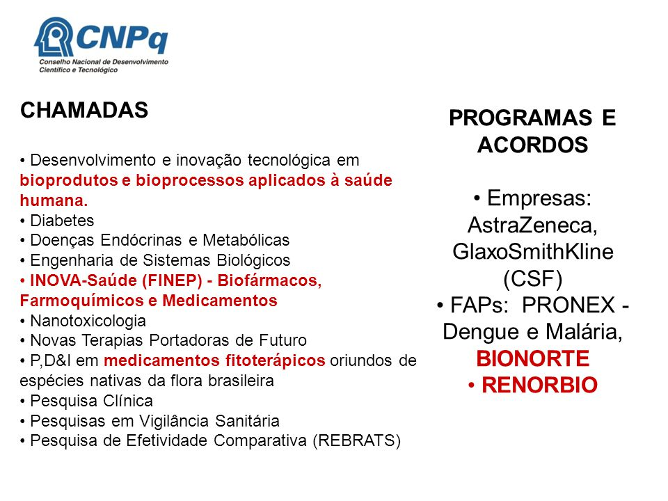 PROGRAMAS E ACORDOS RENORBIO