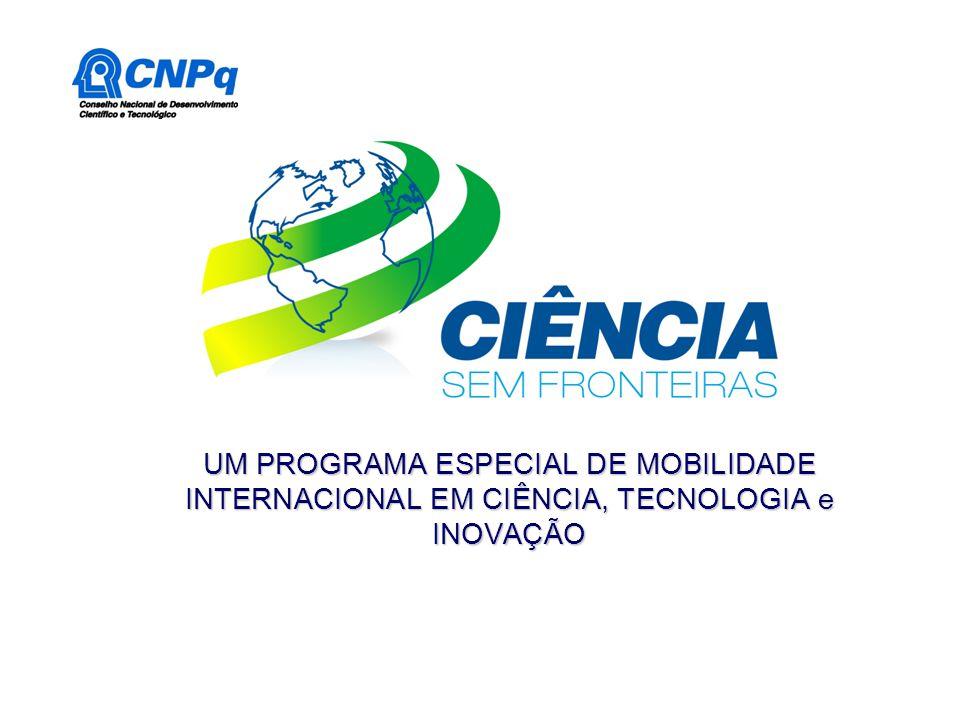 UM PROGRAMA ESPECIAL DE MOBILIDADE INTERNACIONAL EM CIÊNCIA, TECNOLOGIA e INOVAÇÃO