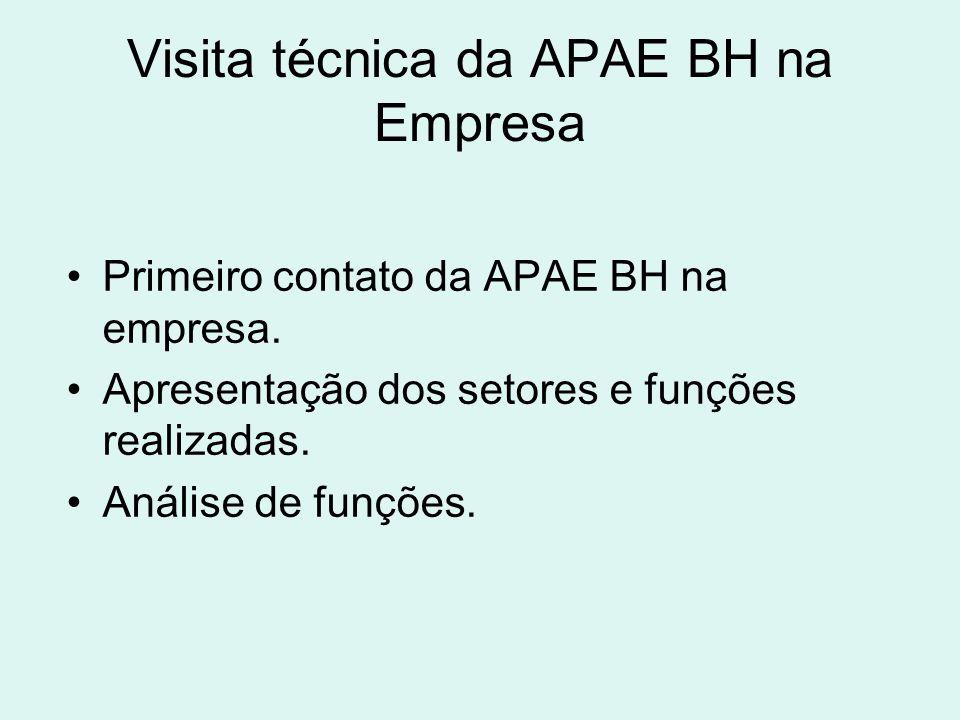 Visita técnica da APAE BH na Empresa