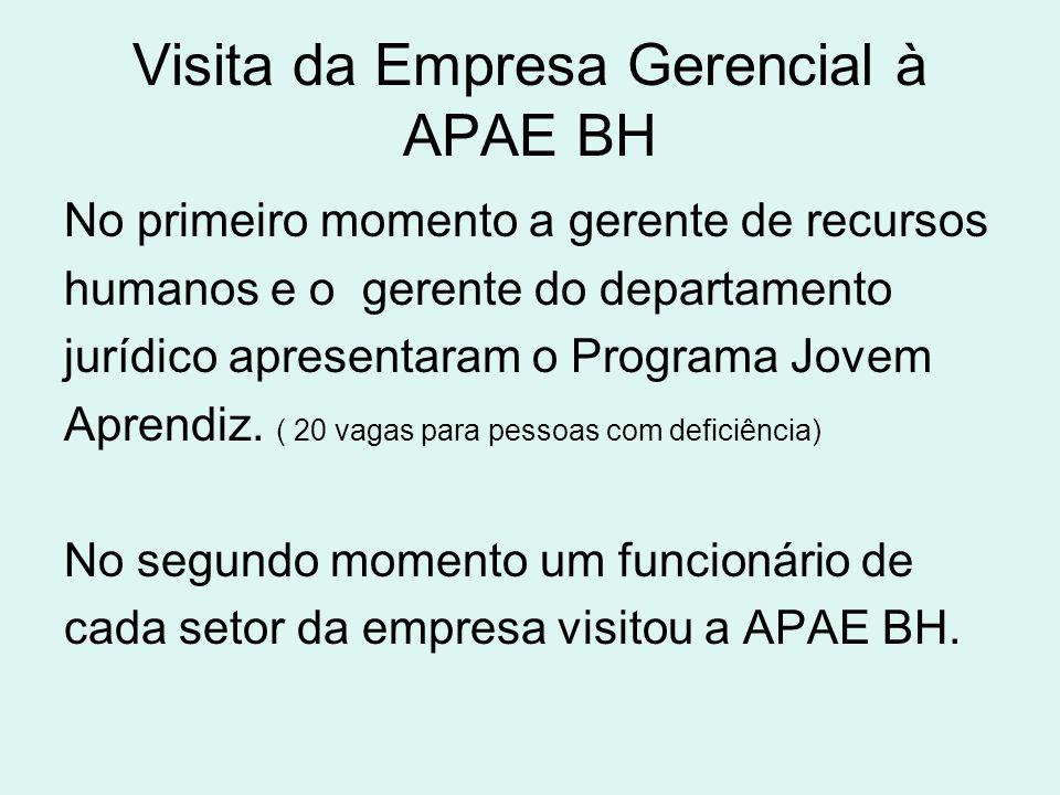 Visita da Empresa Gerencial à APAE BH
