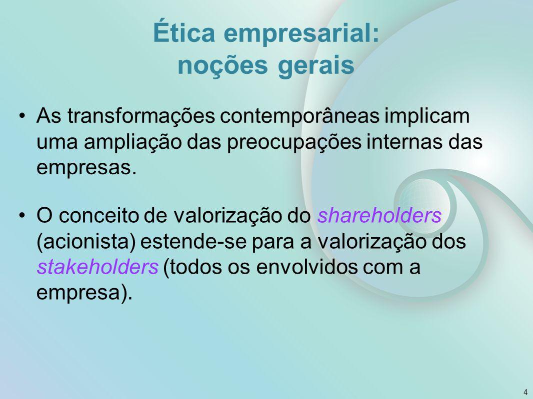 Ética empresarial: noções gerais