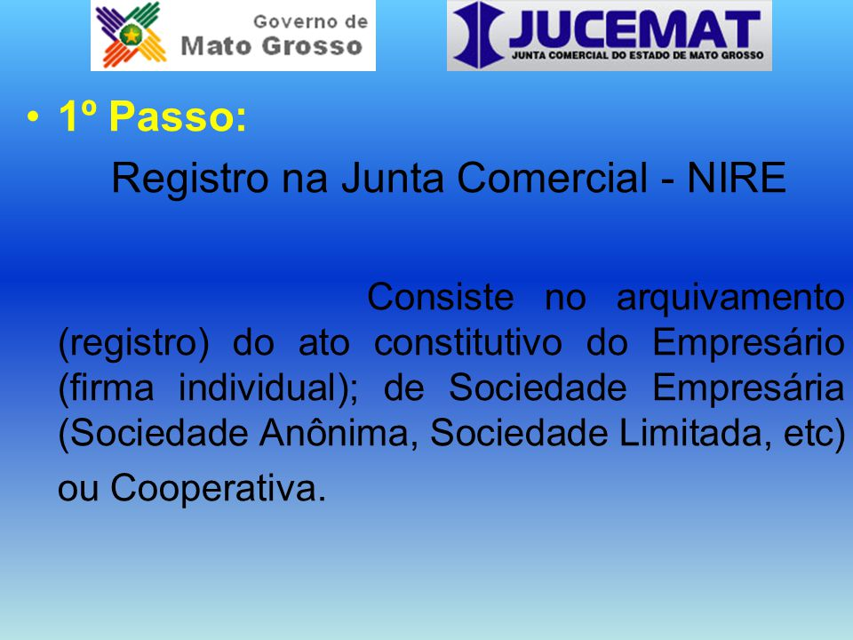 Registro na Junta Comercial - NIRE