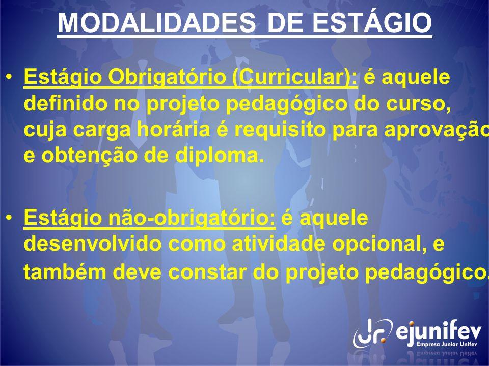 MODALIDADES DE ESTÁGIO