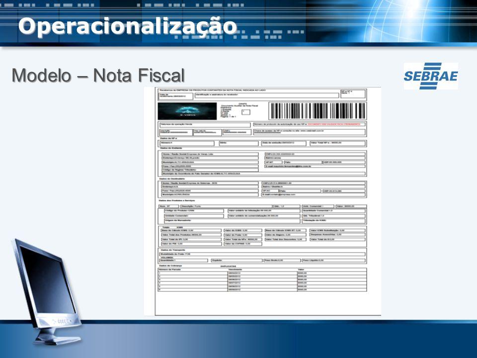 Operacionalização Modelo – Nota Fiscal