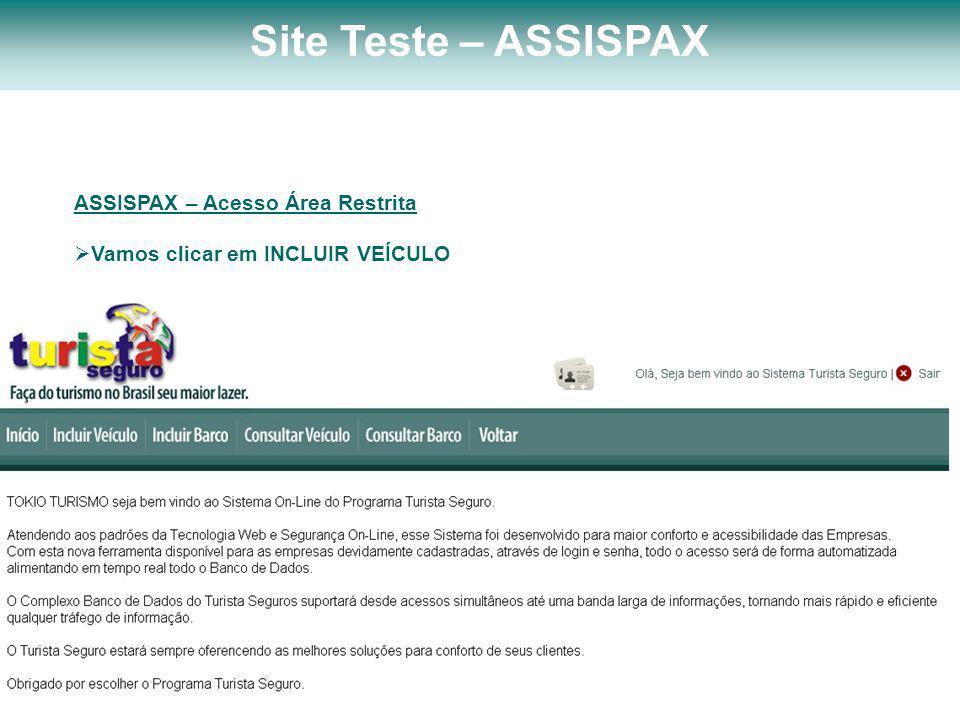 Site Teste – ASSISPAX ASSISPAX – Acesso Área Restrita