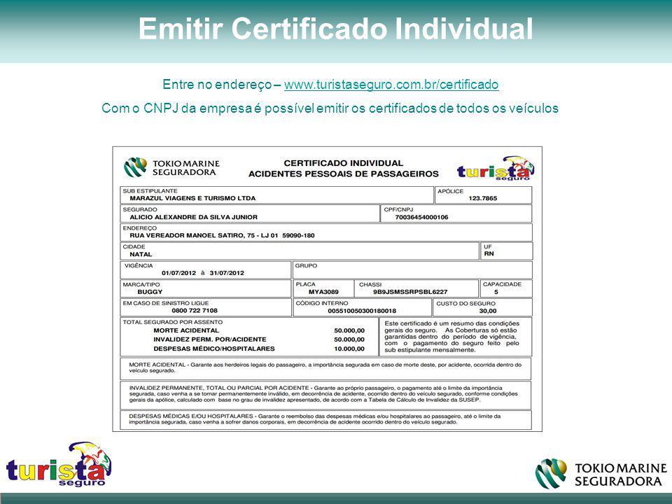 Emitir Certificado Individual