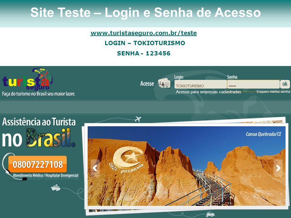 Site Teste – Login e Senha de Acesso