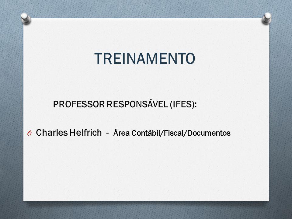 TREINAMENTO PROFESSOR RESPONSÁVEL (IFES):