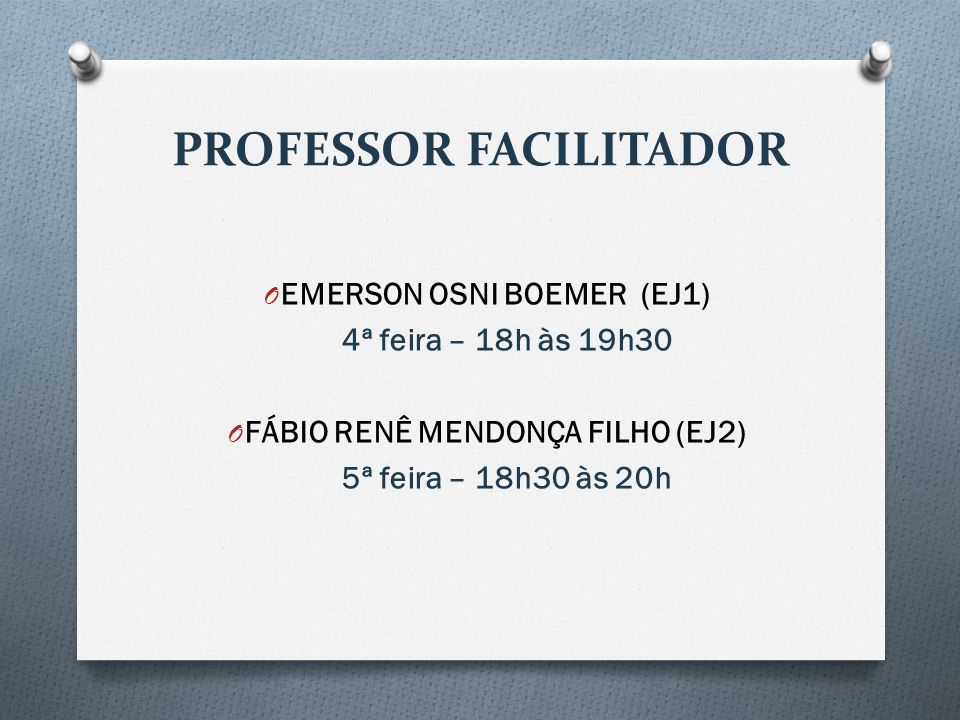 PROFESSOR FACILITADOR