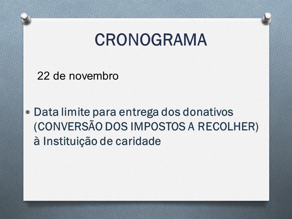 CRONOGRAMA 22 de novembro.