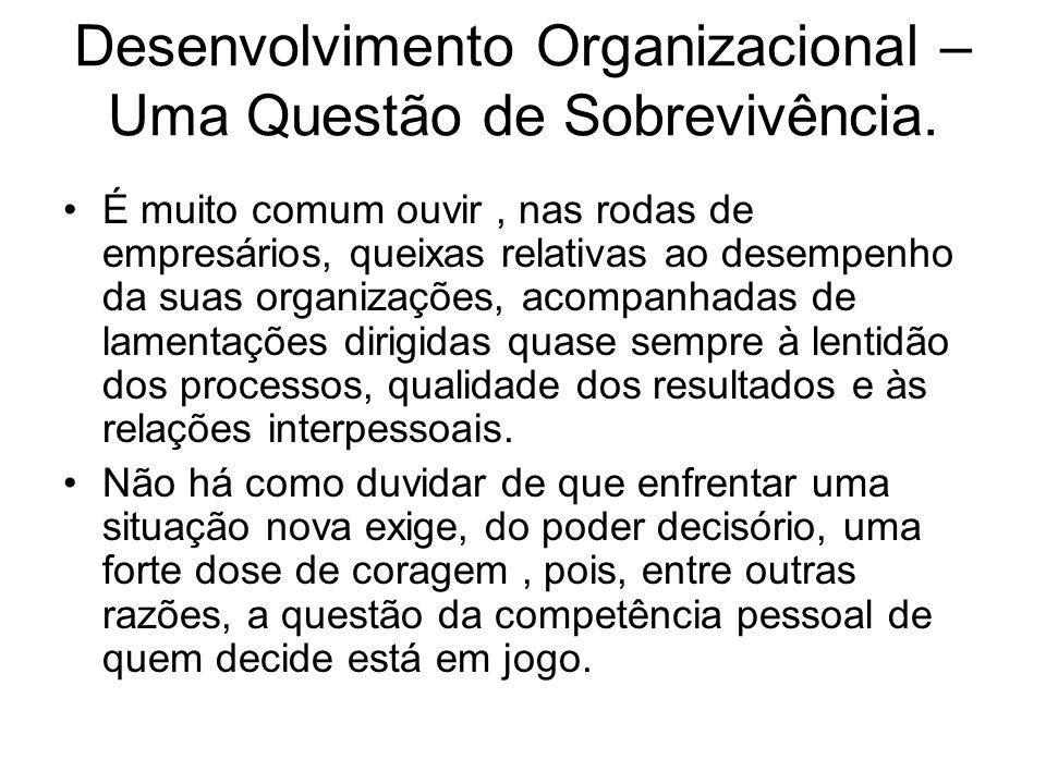 Desenvolvimento Organizacional – Uma Questão de Sobrevivência.