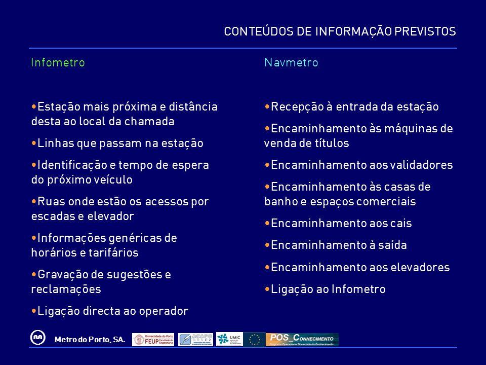 CONTEÚDOS DE INFORMAÇÃO PREVISTOS