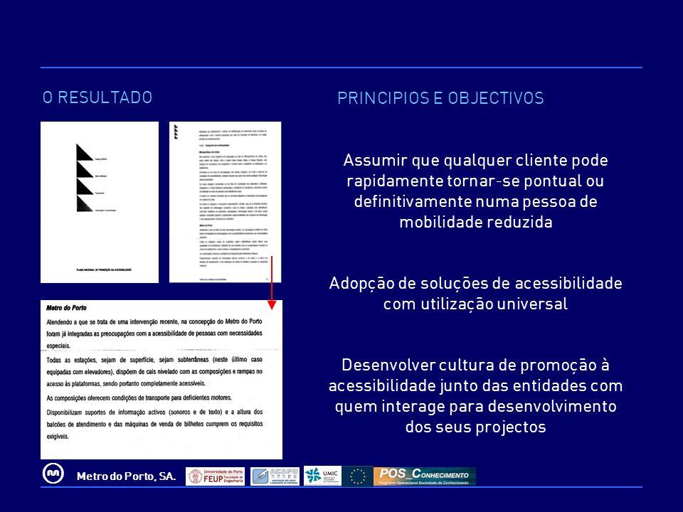 Adopção de soluções de acessibilidade com utilização universal