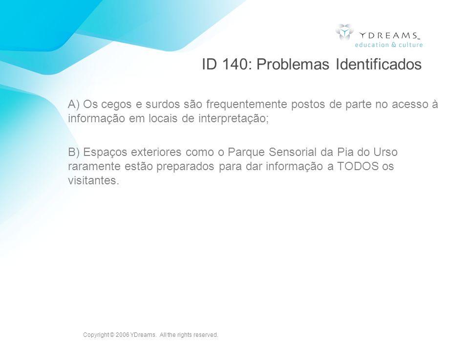 ID 140: Problemas Identificados